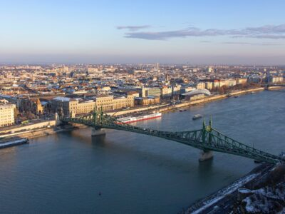 Brug over de Donau in Budapest