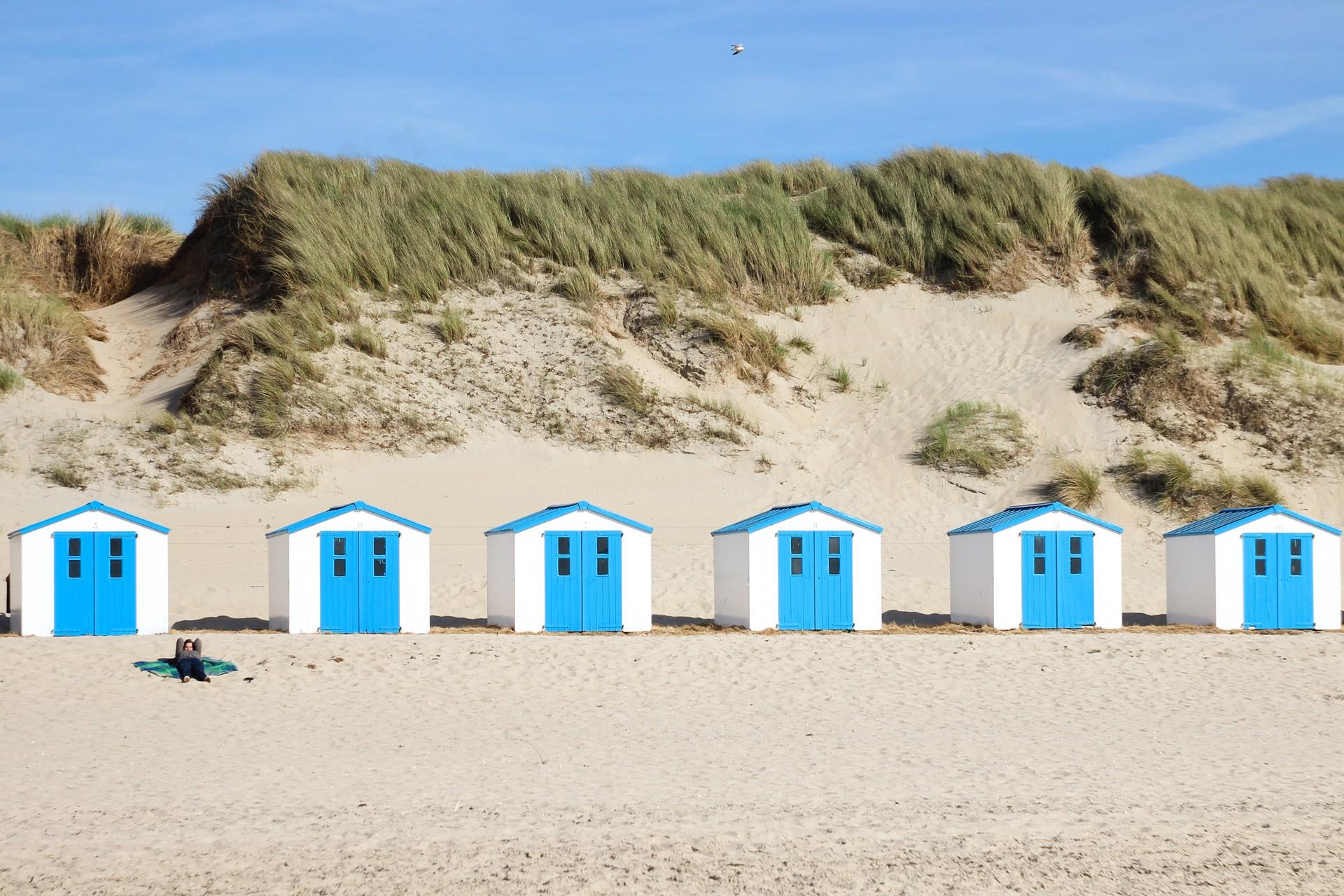 Strandhuisjes Texel Waddeneilanden