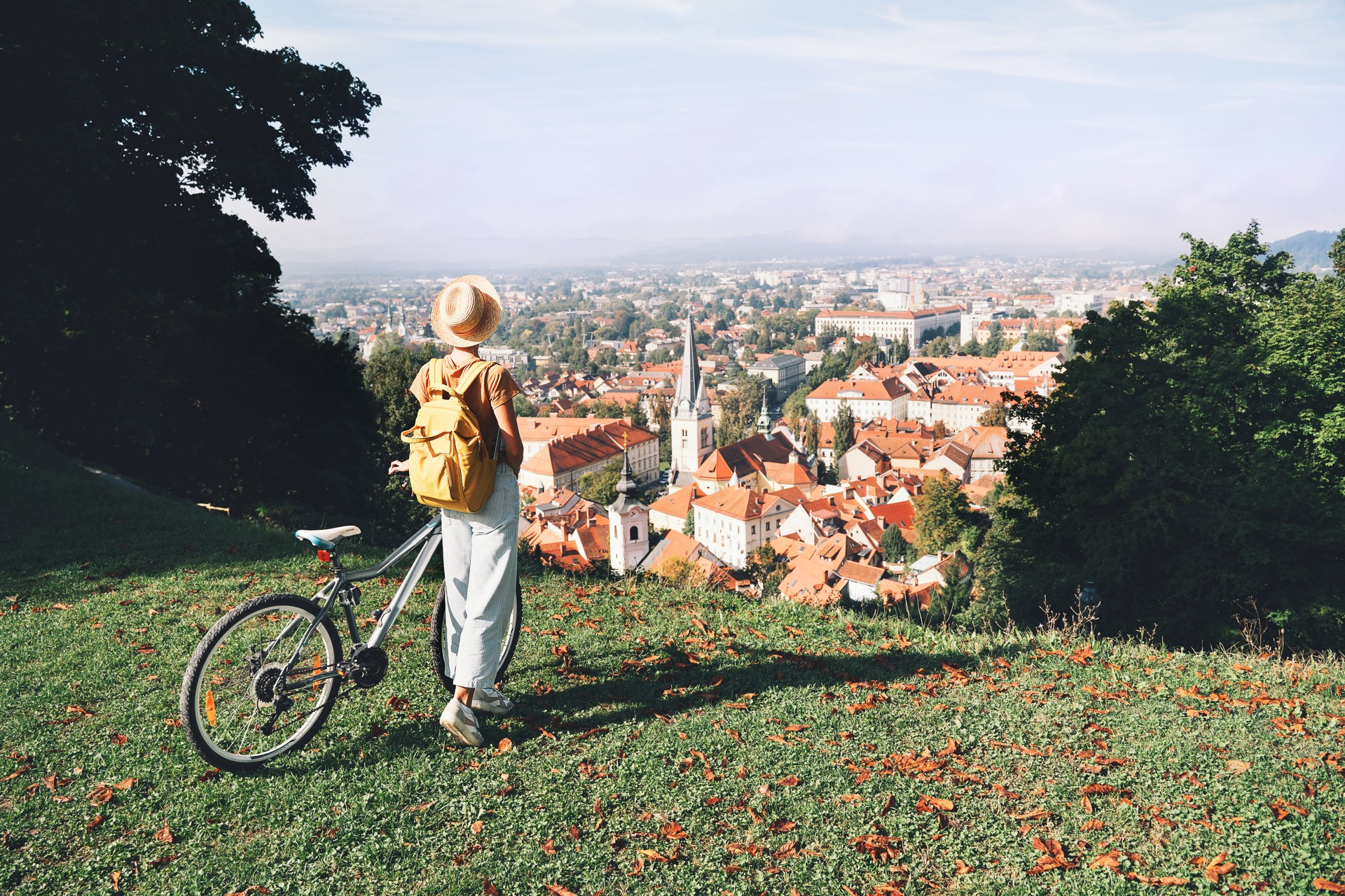 Ljubljana per fiets